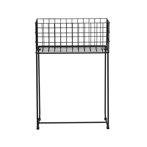 DEER STORAGE BASKET BLACK 50X75X29CM