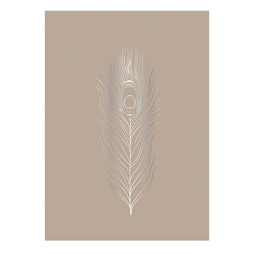 FEATHER POSTER 50X70CM