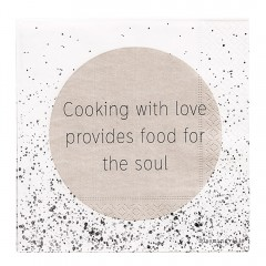 COOKING WITH LOVE NAPKIN 33X33CM
