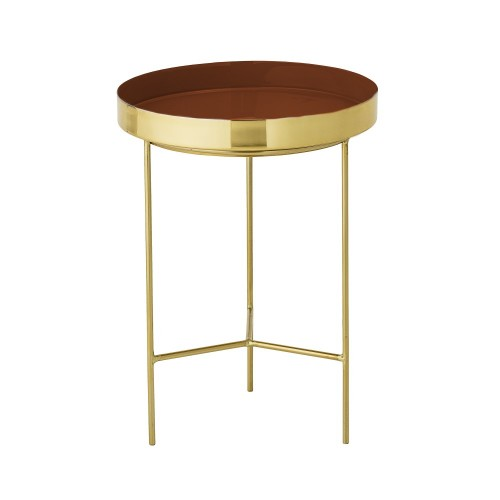 SOLA RED TRAY TABLE Ø30x40CM
