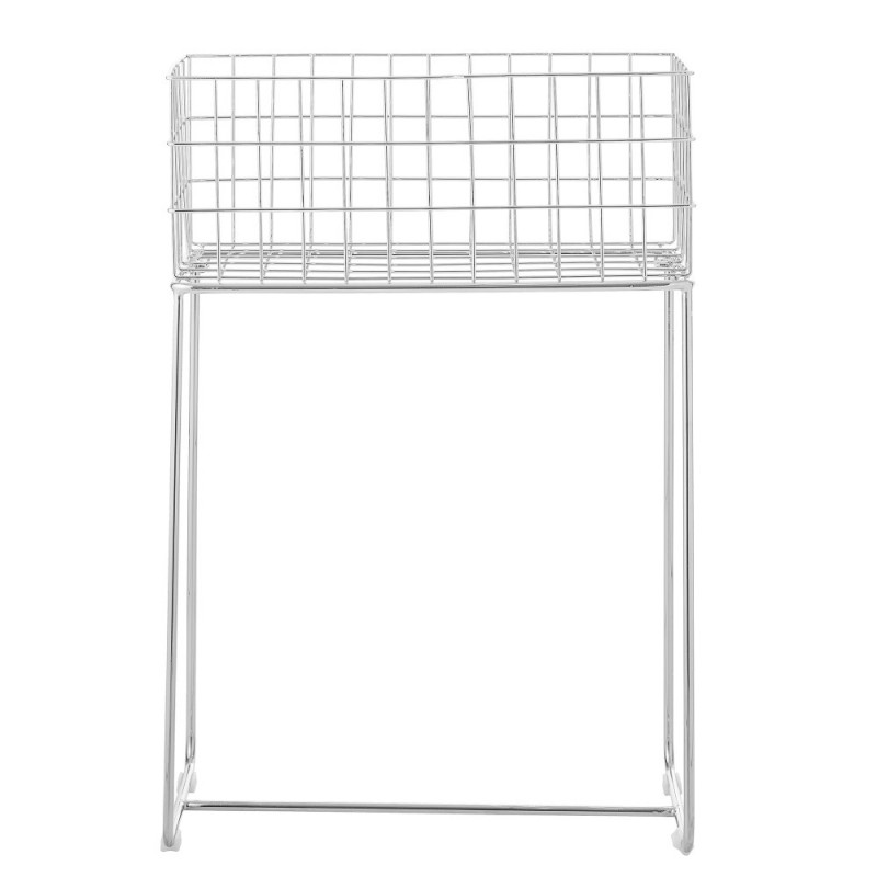 DEER STORAGE BASKET SILVER 50X29X75CM