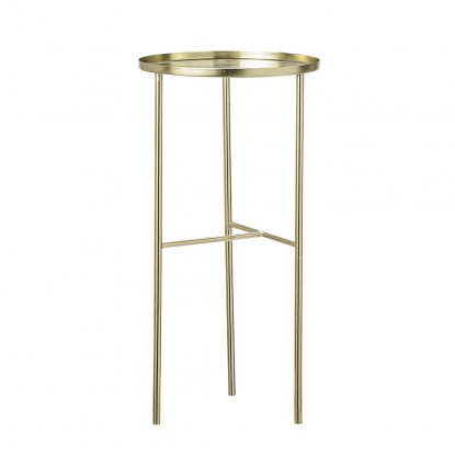 PRETTY SIDETABLE GOLD Ø30x60CM