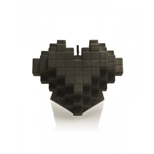 CANDLE HEART PIXEL 15X11,5X12,5CM