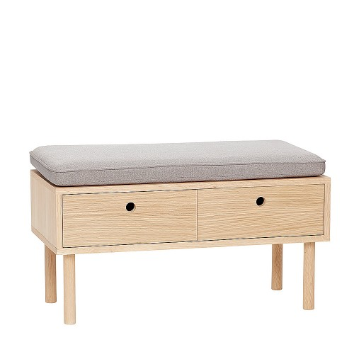 DIANA BENCH W/CUSHION 85X40X42CM