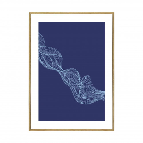 BLUE GRAPHICS FRAME OAK 50X70CM