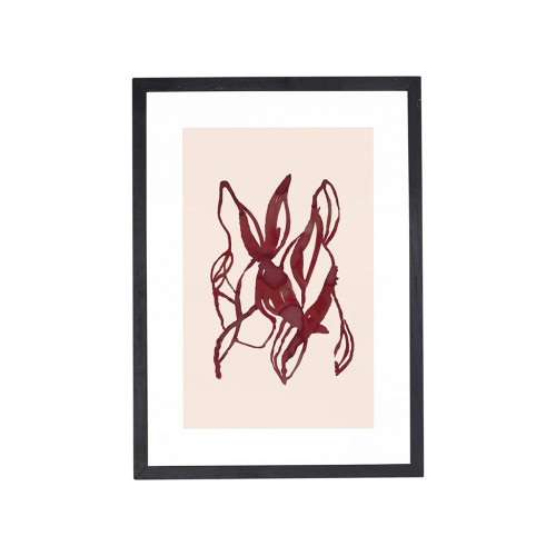 RED GRAPHICS FRAME OAK 21X30CM