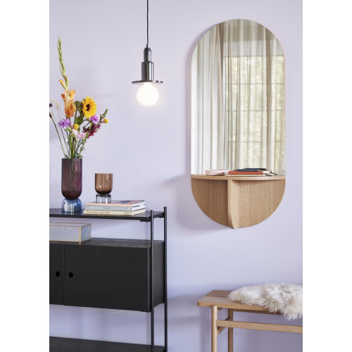 MIRROR WITH SHELF 55X23X120CM