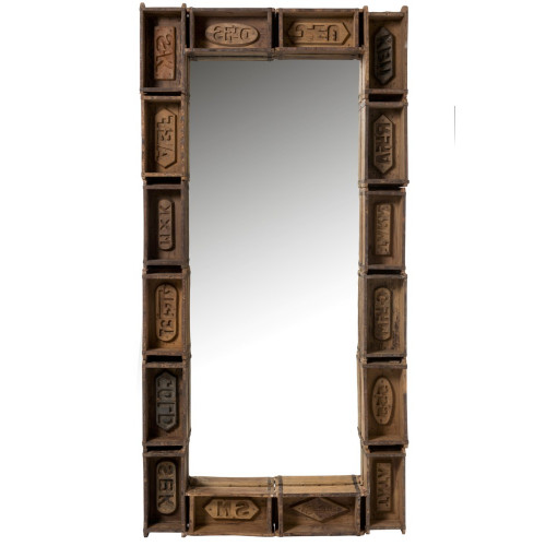 MIRROR RECYCLED WOOD 180X90X12CM