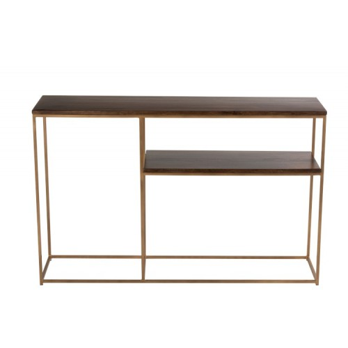 CONSOLE WITH SHELF RAFI 114,5X28,5X73CM