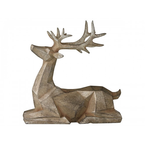 SERAFINA DECORATION DEER 28X12X28CM