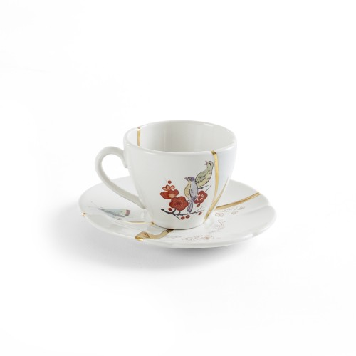 KINTSUGI COFFEE CUP WITH SAUCER Ø6,4X5CM