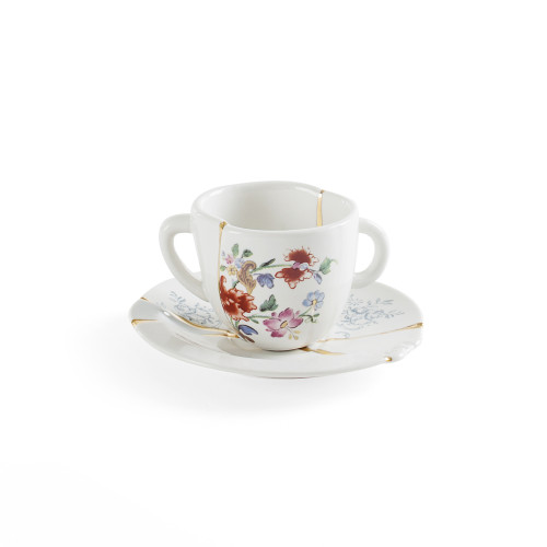 KINTSUGI COFFEE CUP WITH SAUCER  Ø6,8X5CM