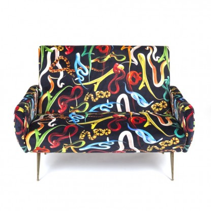 SOFA TWO SEATER SNAKES 122X86X86CM