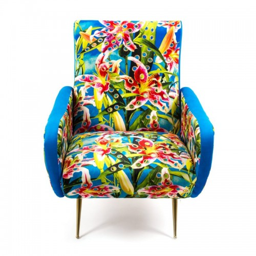 FLOWERS WITH HOLES ARMCHAIR 70X79X86CM